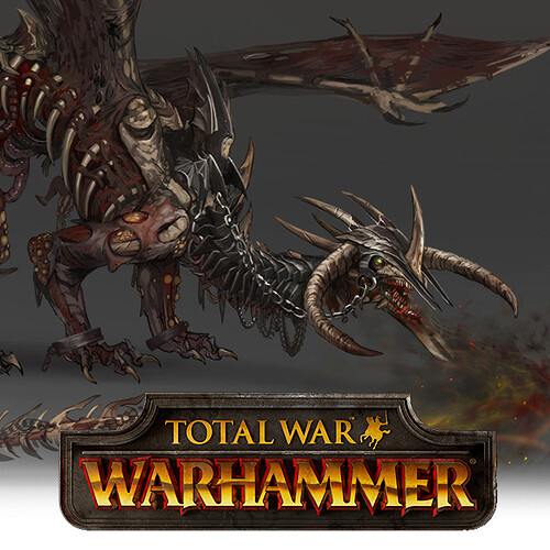 Total War: Warhammer Concept Art - Zombie Dragon
