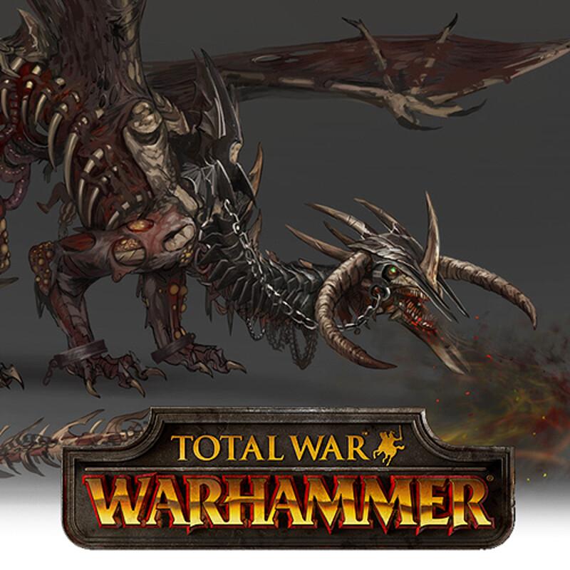 Total War: Warhammer Concept Art - Zombie Dragon