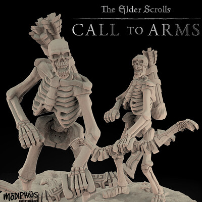 Skeleton Archers II . The Elder Scrolls - Call to Arms