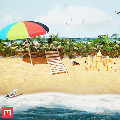 [Quixel Mixer] Beach Material Mix Scene