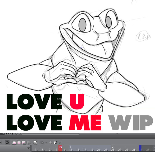 WIP - Love U Love ME animation