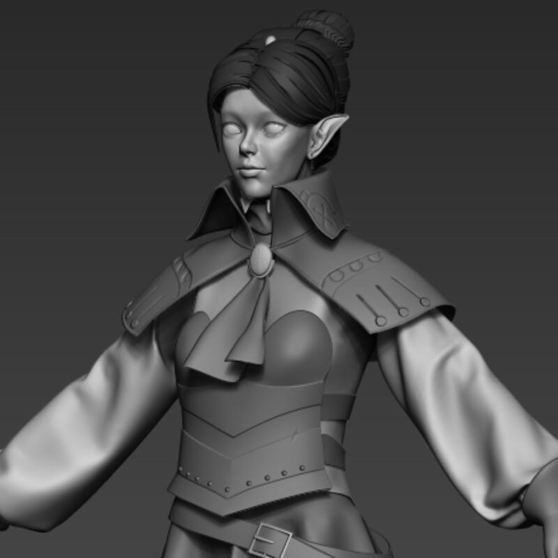 WIP Mercenary Elf