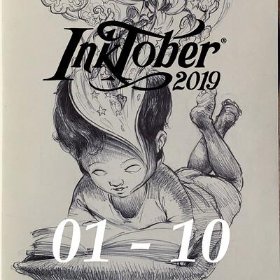 Inktober 2019 : Day 01 - 10