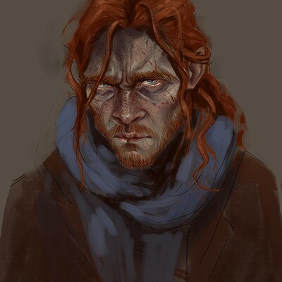 Anna dousova colored caleb looking straight into my soul for web