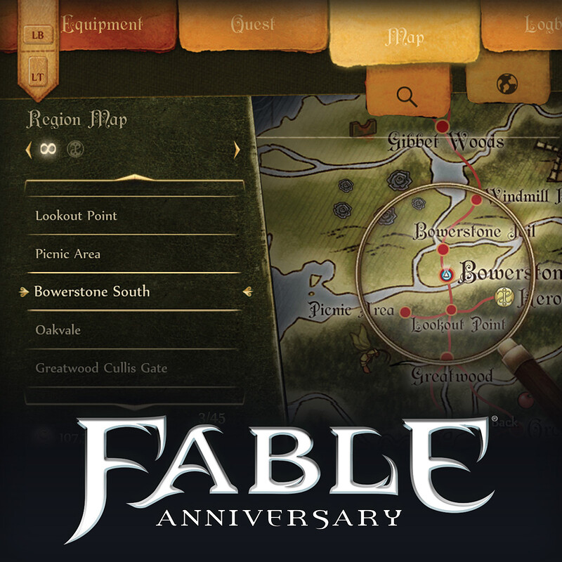 Fable Anniversary Inventory Menu