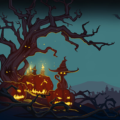 Moon tribe halloween greeting card work2
