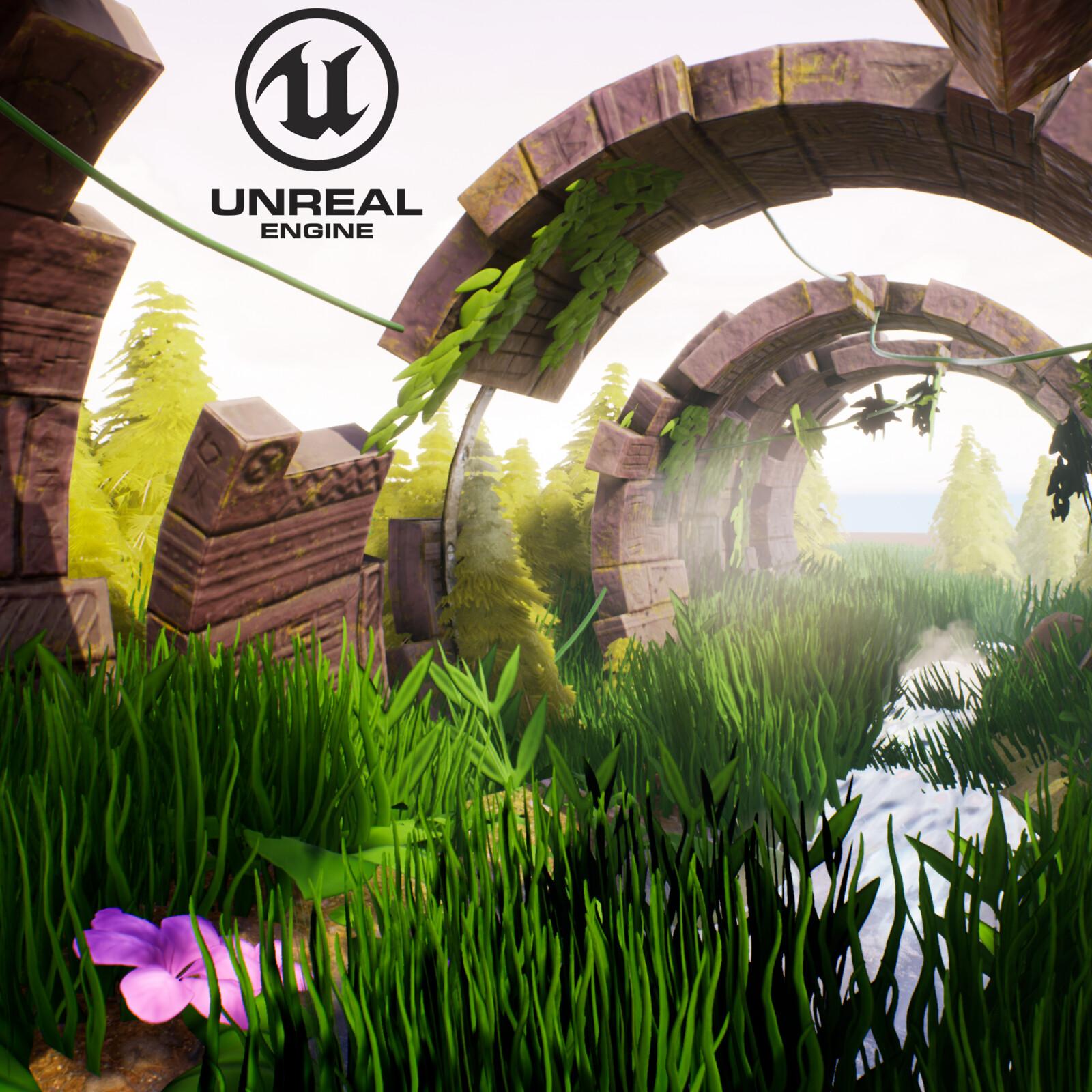 Lost Temple woods - Full 3D Environment development