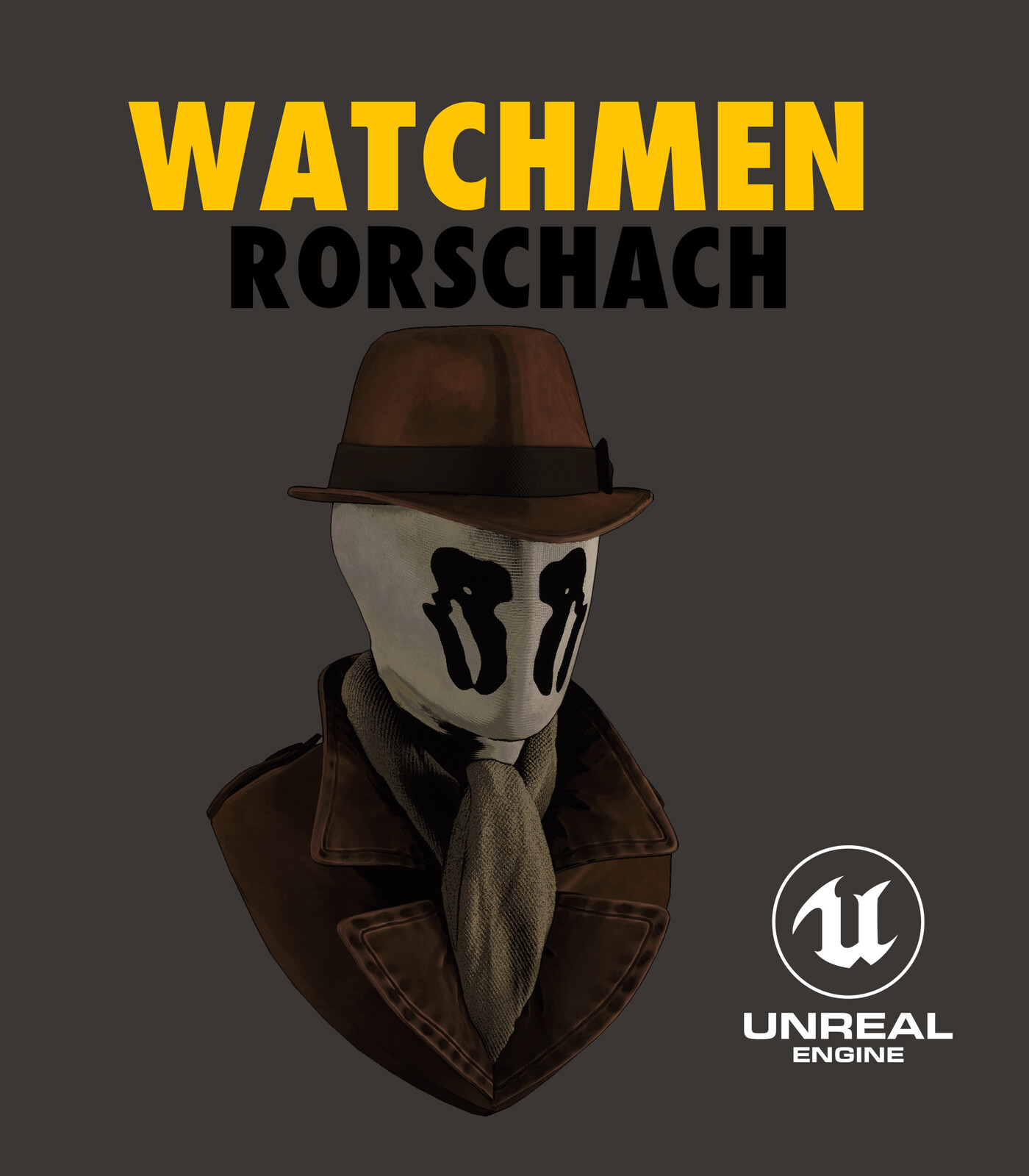 Rorschach: Cellshader and face mask