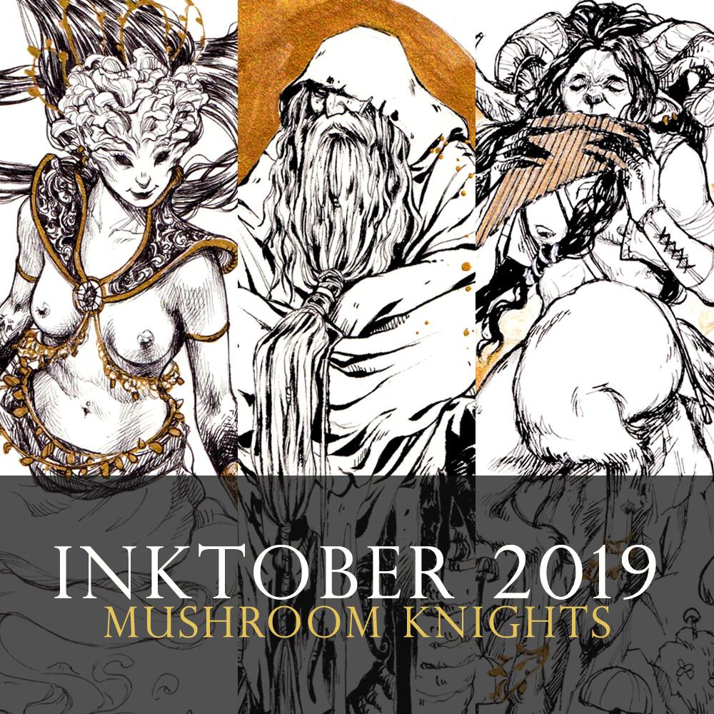 Inktober 2019 - Mushroom Knights
