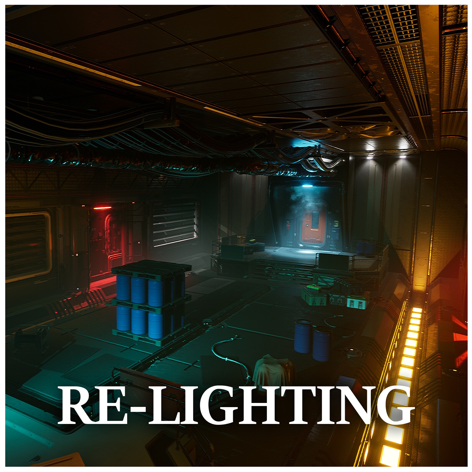 Re-Lighting Study | Jonathon Frederick's Modular SciFi: Enginee - Re-Lighting