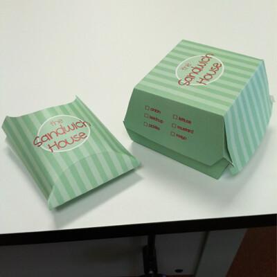 Danny flowers sandwich box printed