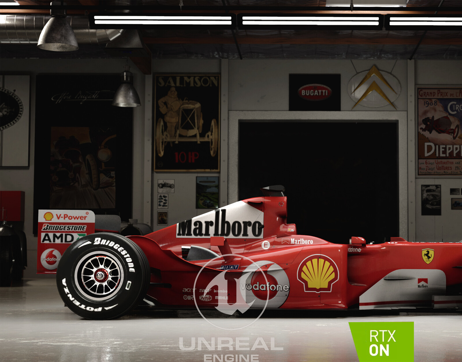 Unreal Engine - Schumi's F2004 in Jay's garage