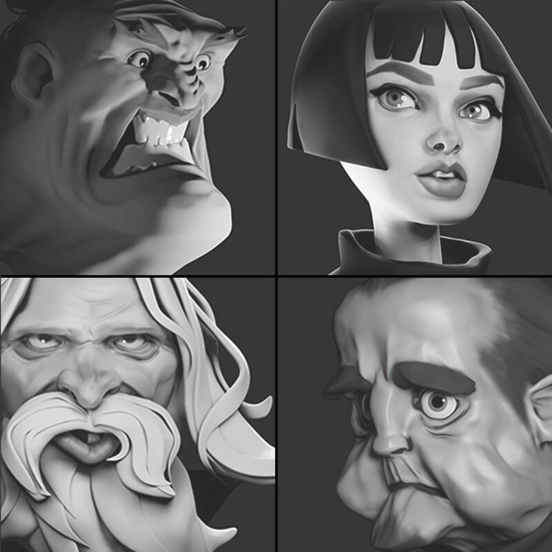 Stylized Heads Study