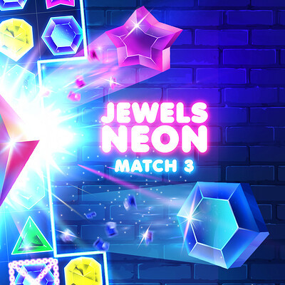 Anna shtorf jewels neon match 3