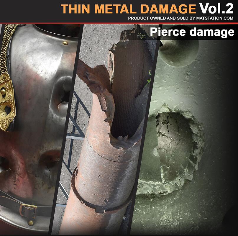 Photo Pack - Thin Metal Damage - Vol.2