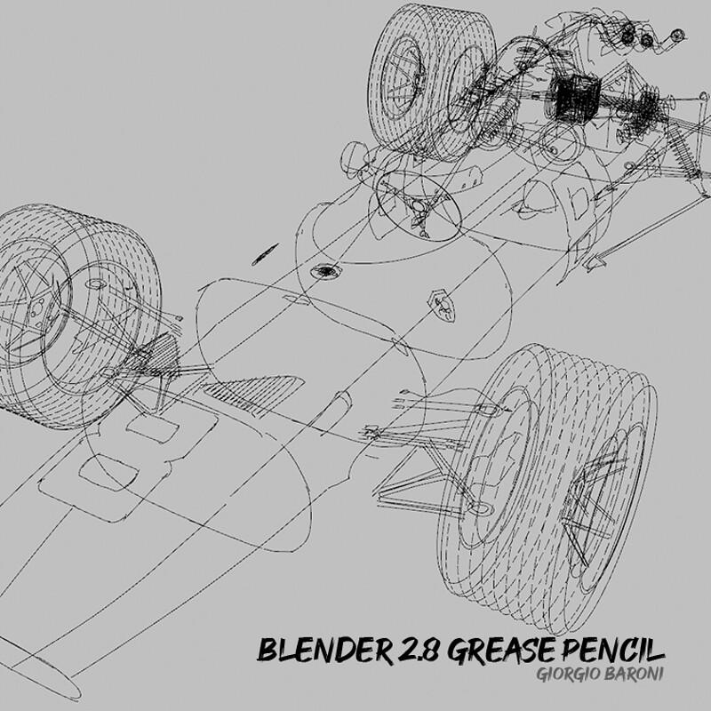 Blender 2.8 Grease Pencil sketches