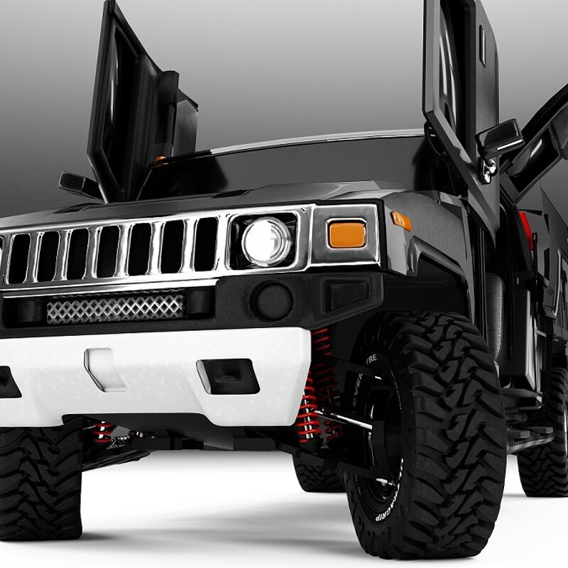 Hummer H3T - Car design - Vehicle Design