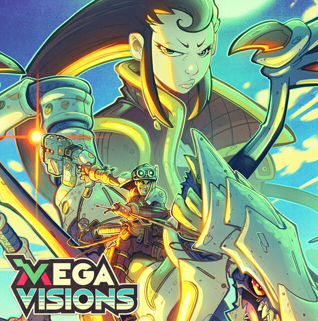 Mega Visions Cover Art 08 - Panzer Dragoon