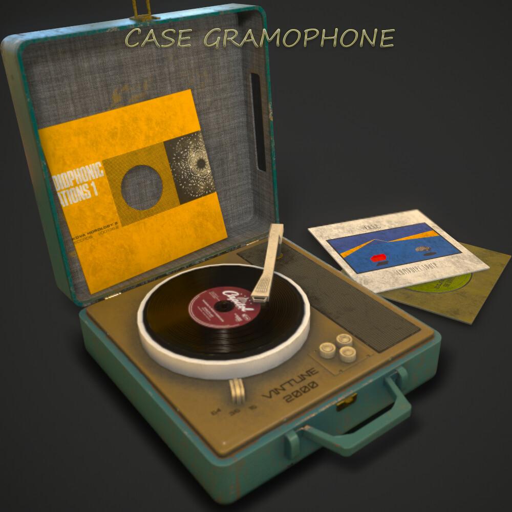 Vintage Case Gramophone