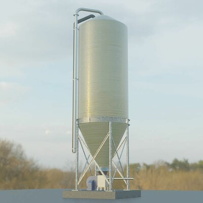 Dennis haupt corn silo version 1 modeled textured and animated by 3dhaupt in blender 2 8 1