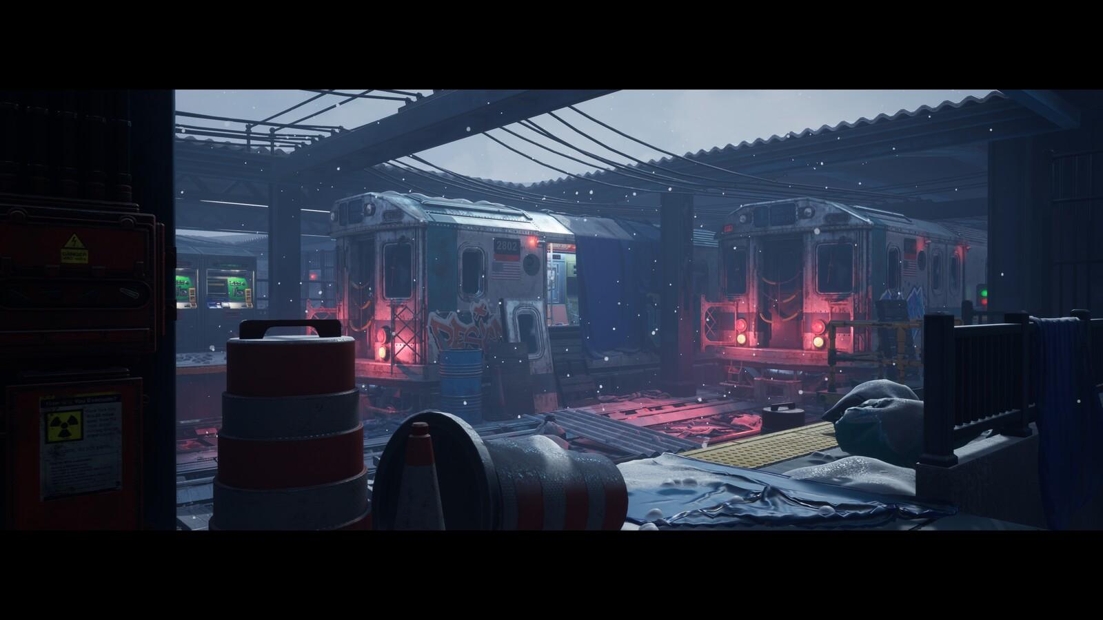 New York Train Station 2049- Exterior