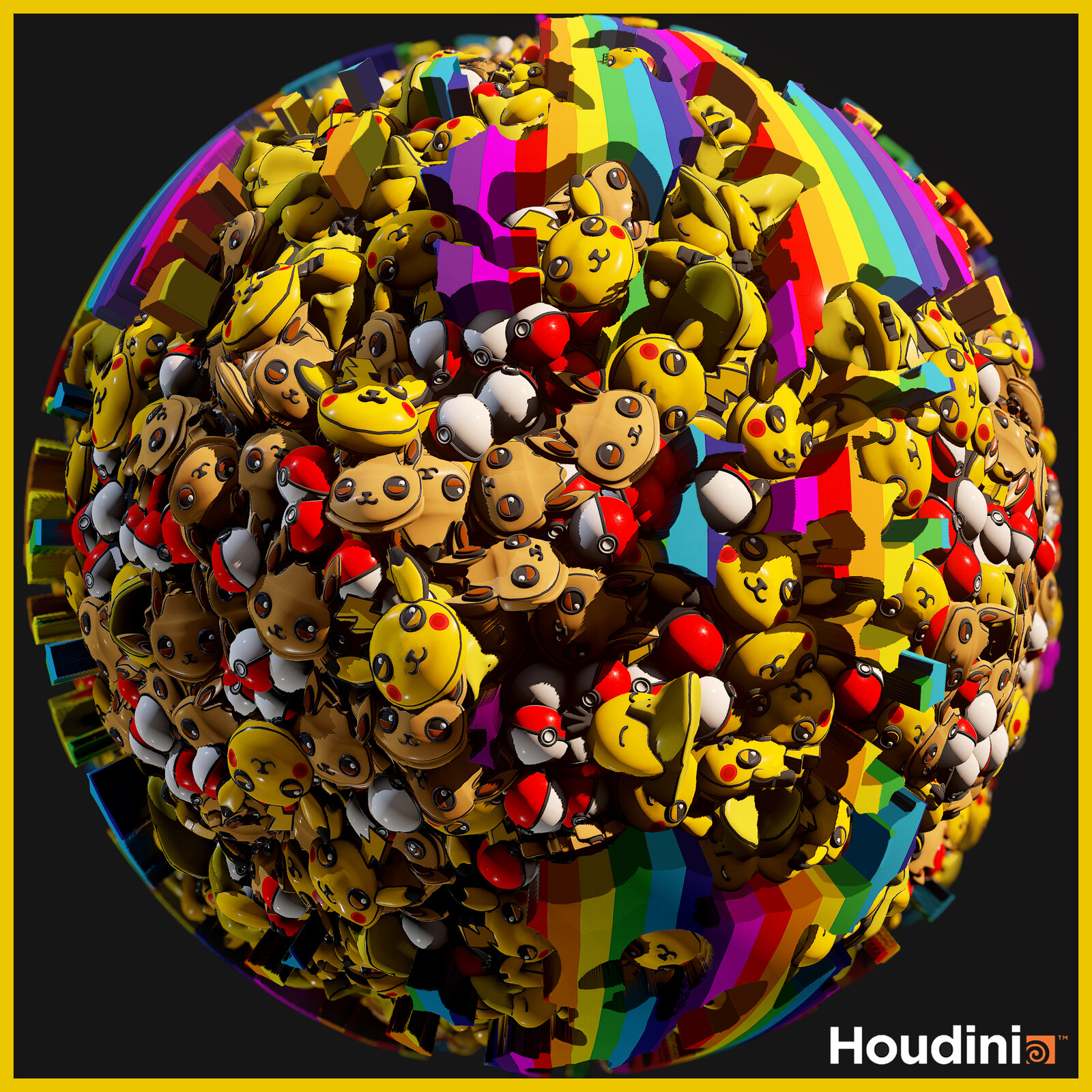 Pokemon Texture Creation in Houdini