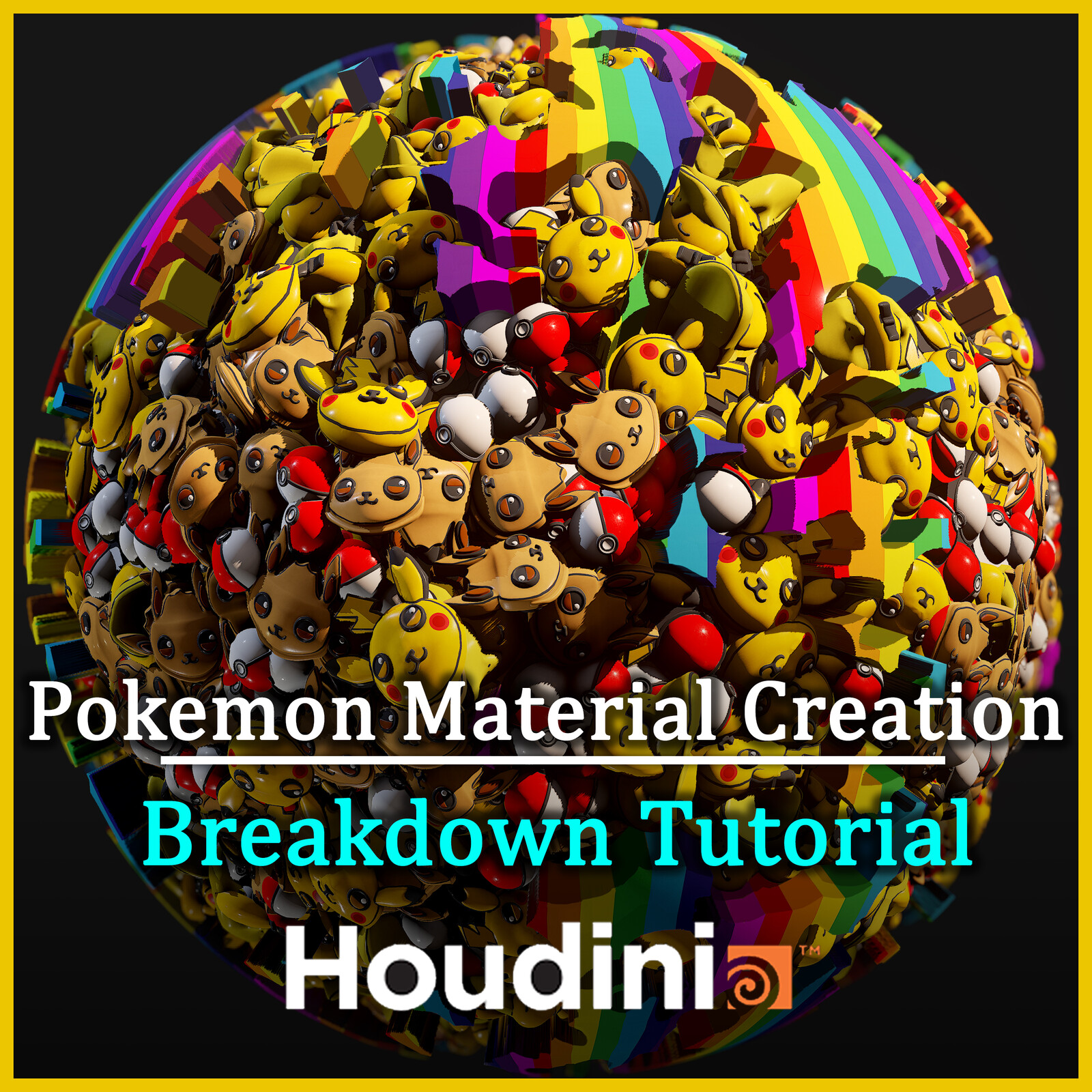 Pokemon Material Creation Tutorial Breakdown in Houdini