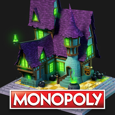 Monopoly: Haunted board buildings