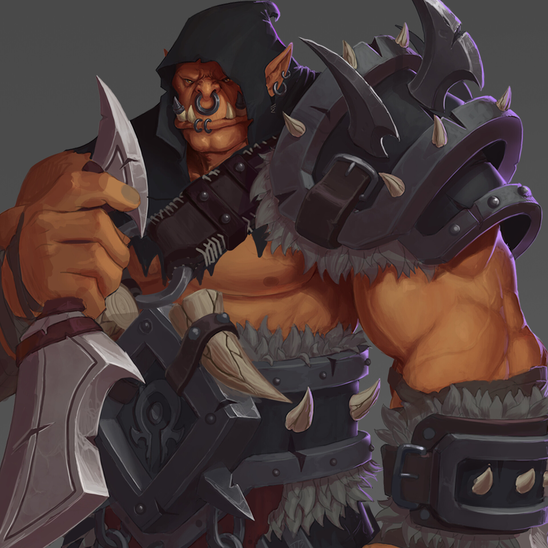Artstation Orc Rogue Tom Bruck