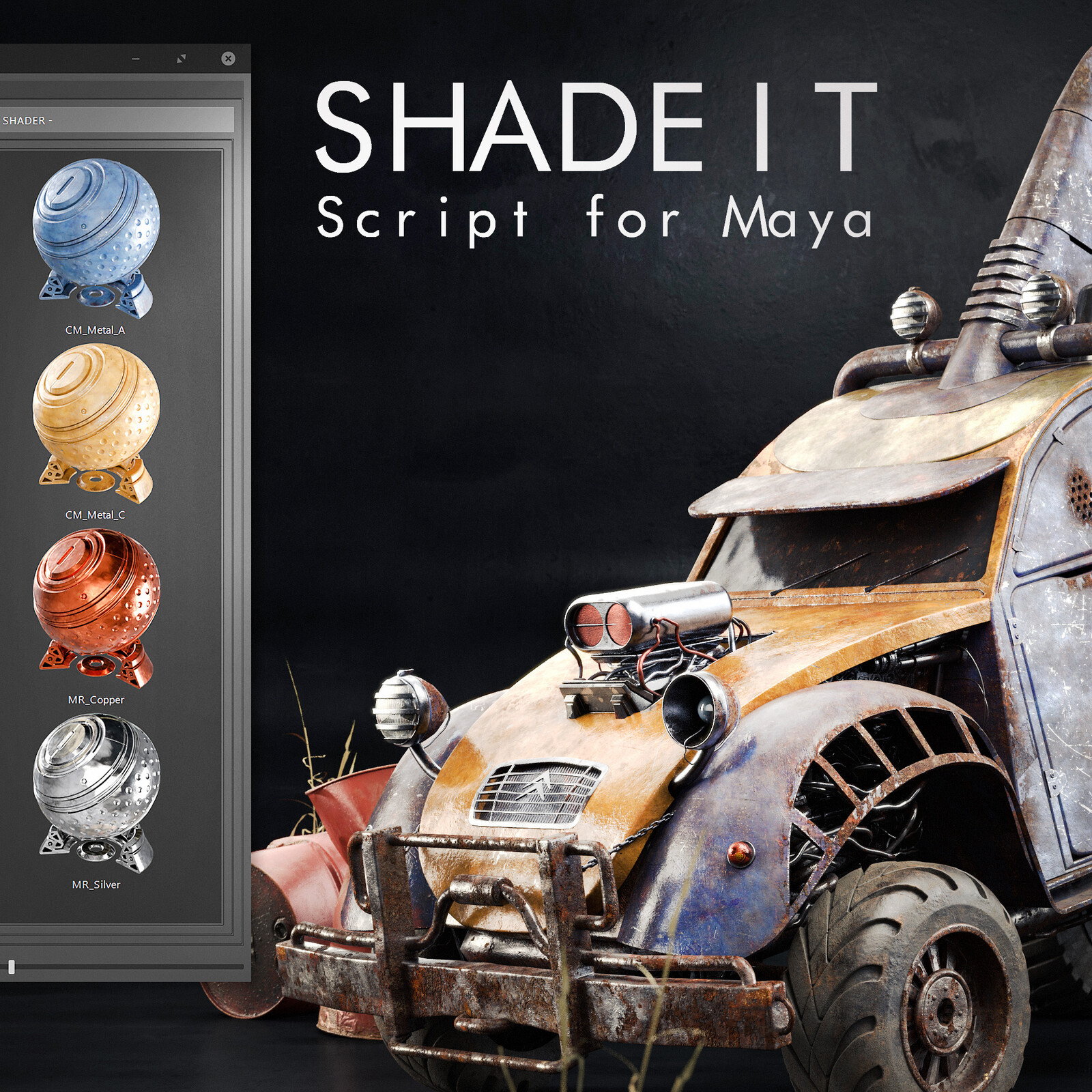 ShadeIt - Procedural Material Library for Arnold in Maya Script - Trailer