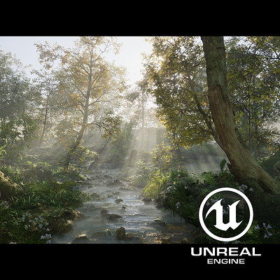 B o w qin forest sunlight unreal 4 logo