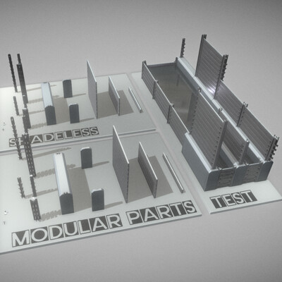 Dennis haupt modular water barrier construction set modeled and textured by 3dhaupt in blender 2 81 5