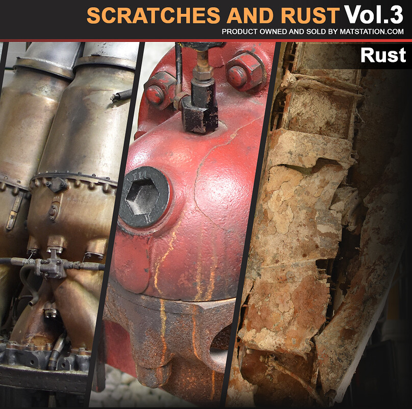Photo Pack - Scratches and Rust - Vol.3