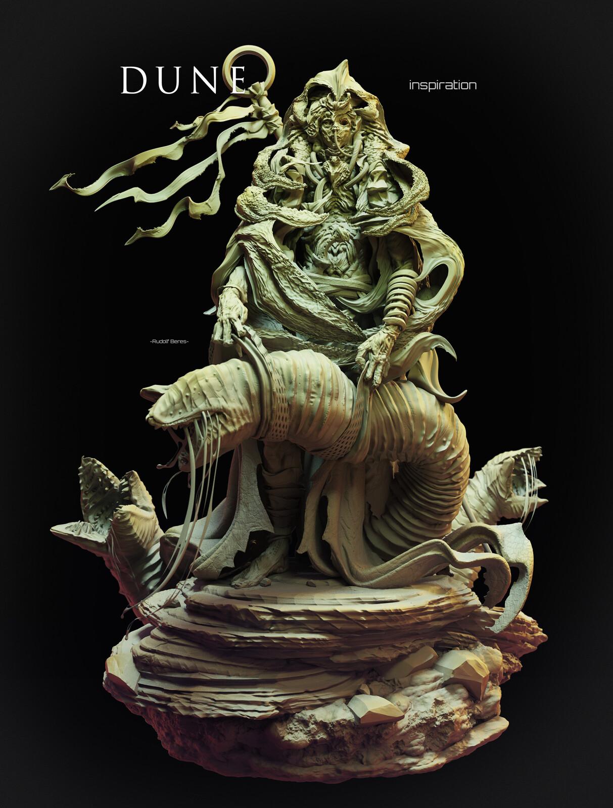 DUNE_Inspiration Fremen Monk_Worm Master