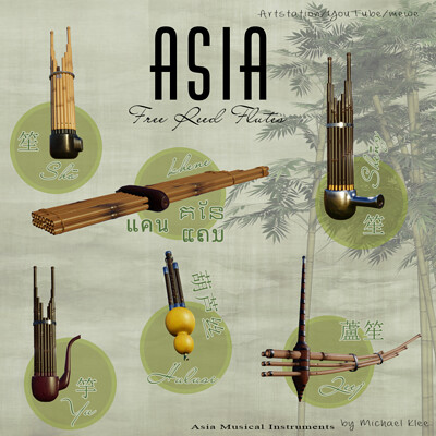 Michael klee asia free reed flutes by michael klee
