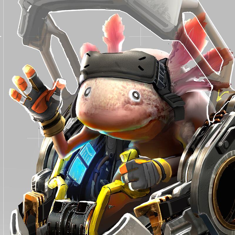 Character Design Challenge : Axolotl Explorer Exoskeleton