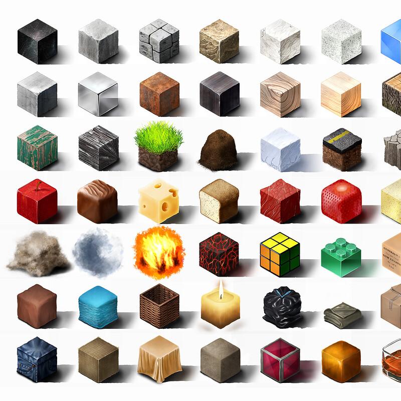 Material Cube Studies