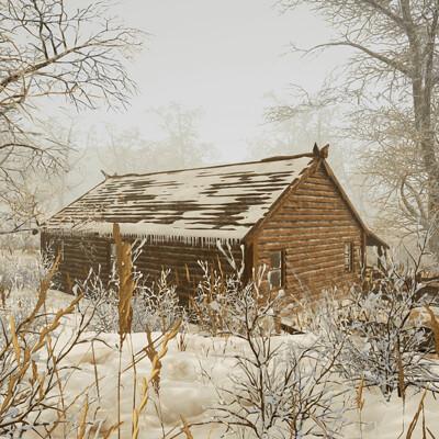 Arkadiusz zygarlicki wood cabin snow 09