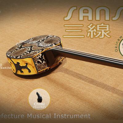 Michael klee sanshin japanese string musical instrument by michael klee artstation thumbnail