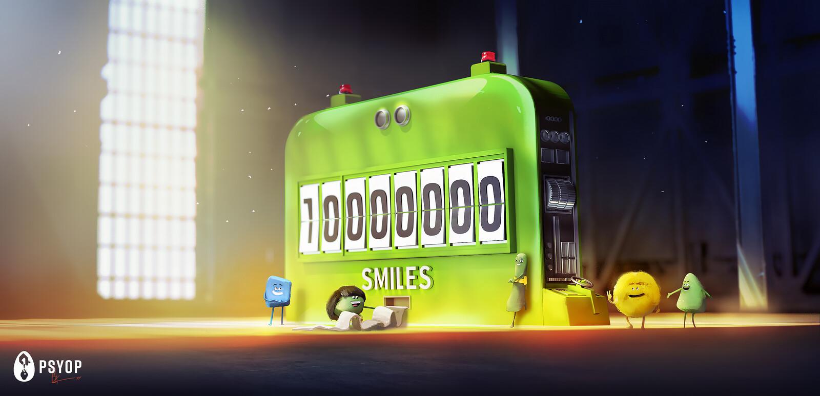 CRICKET WIRELESS 10M Smiles AD / Concept Art