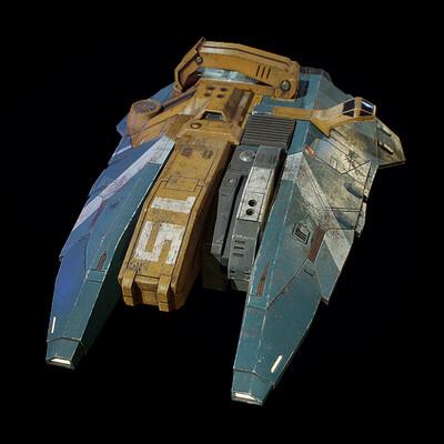 Minelayer Corvette, Homeworld Franchise, game asset