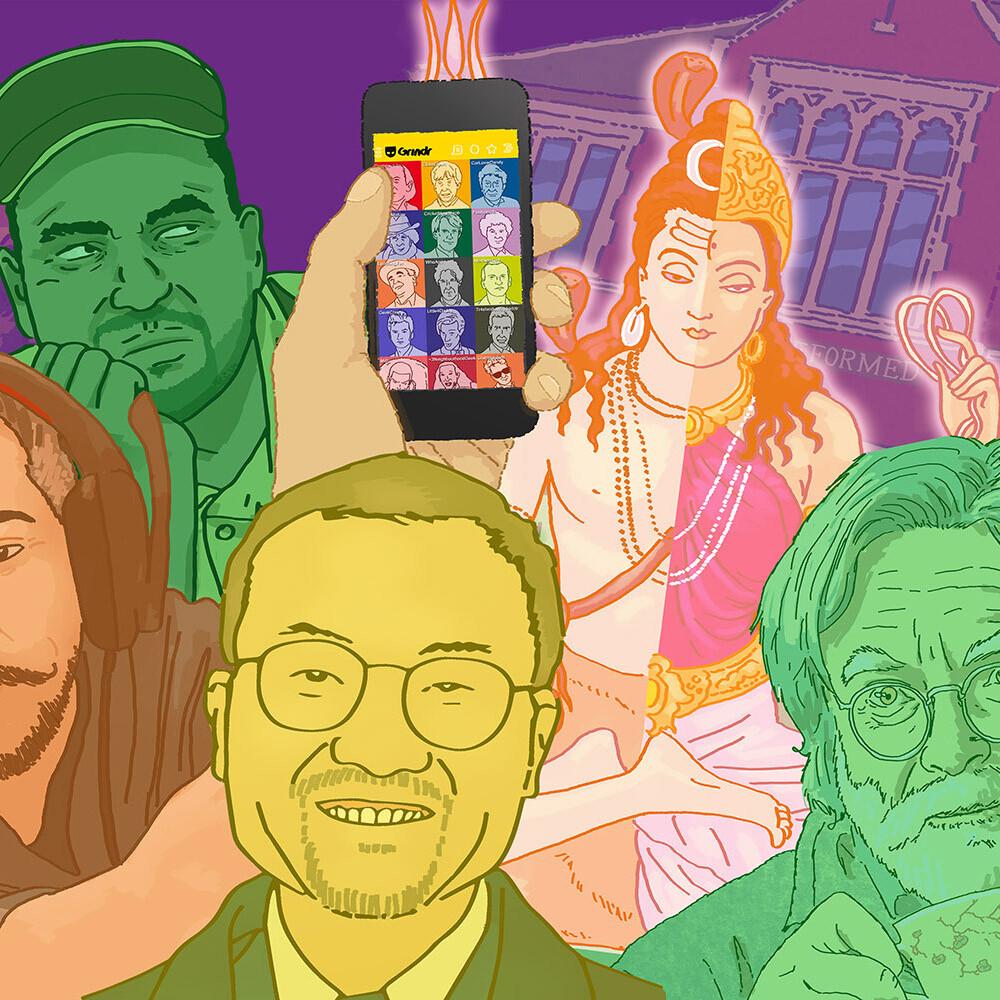 Rainbow Pilgrims exhibition illustrations (2017 - 2018)