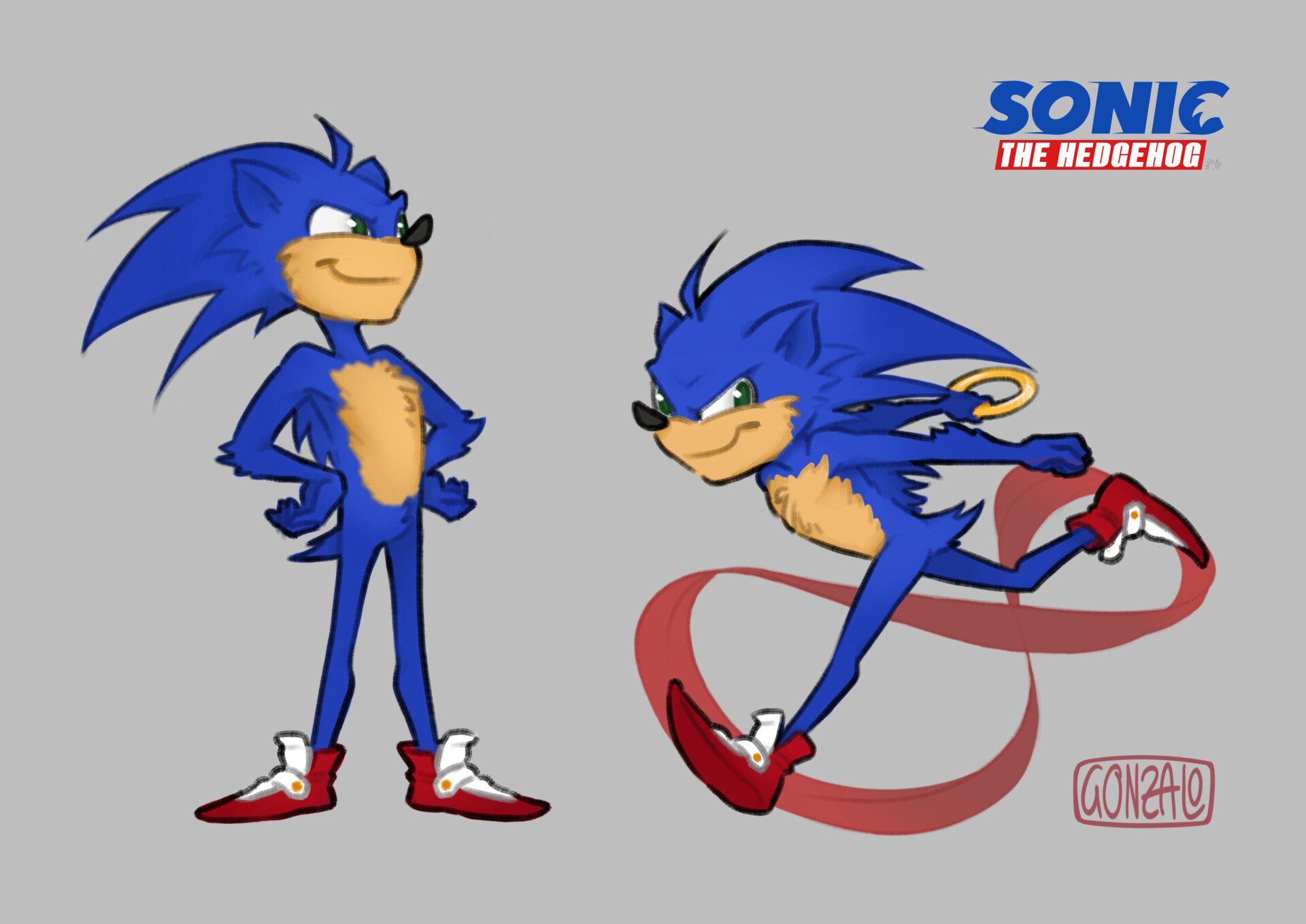 Artstation Sonic The Hedgehog Film Redesign Gonzalo Fraguas Bringas