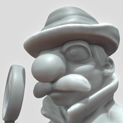 Dennis haupt software inspector high poly version sculpted by 3dhaupt in blender 2 81a 4