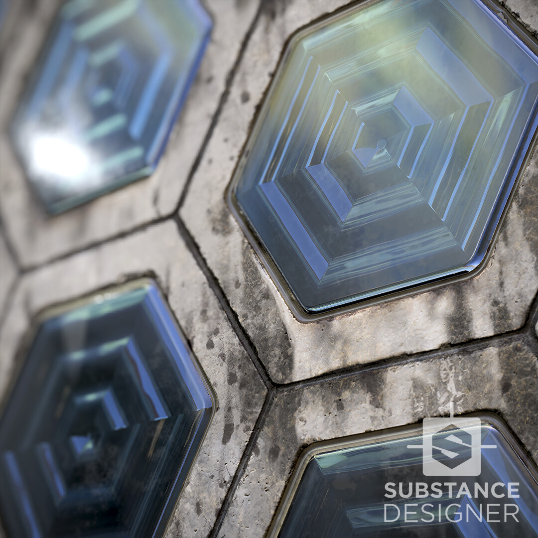 Smithfield Glass Bricks / Substance Designer