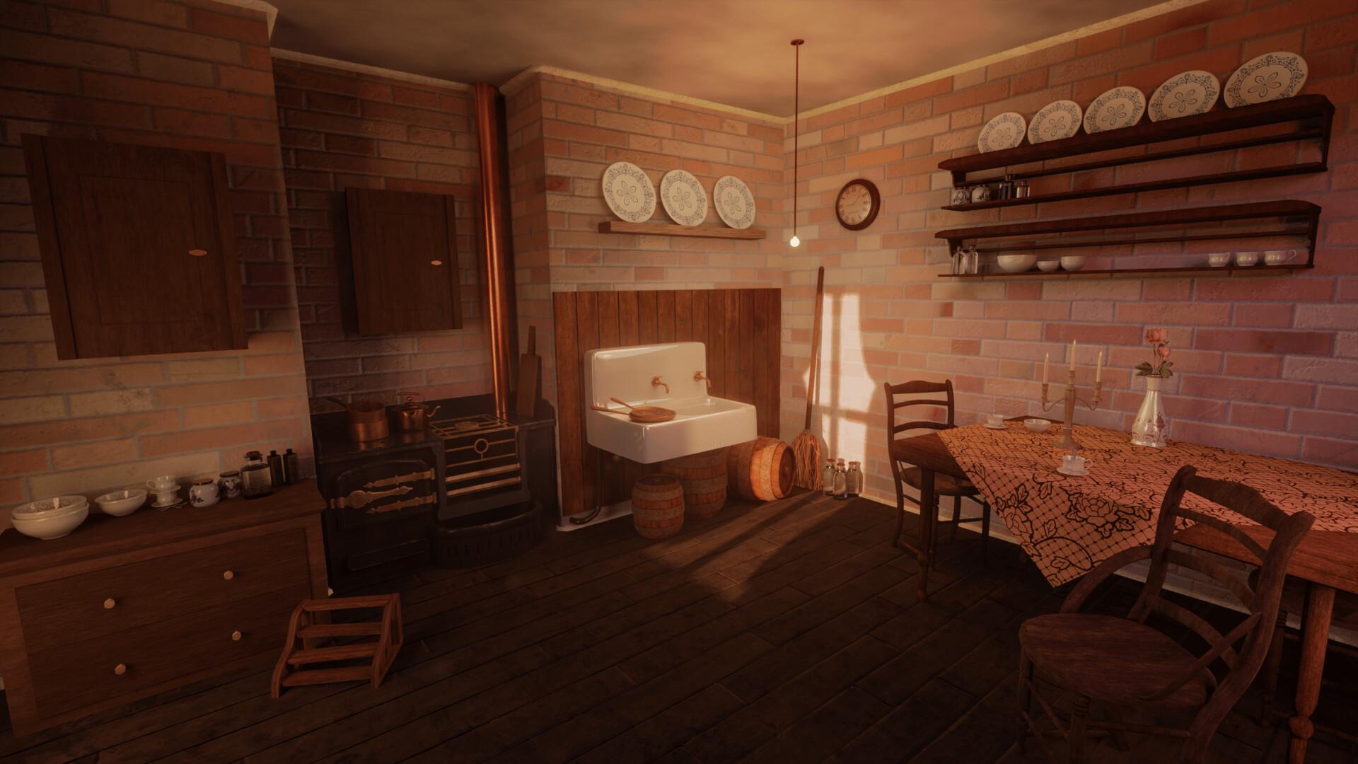 Artstation Victorian Era Inspired Kitchen Mlina Boros