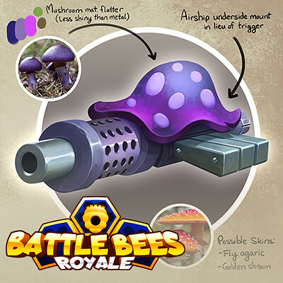 Battle Bees Weapon Designs
