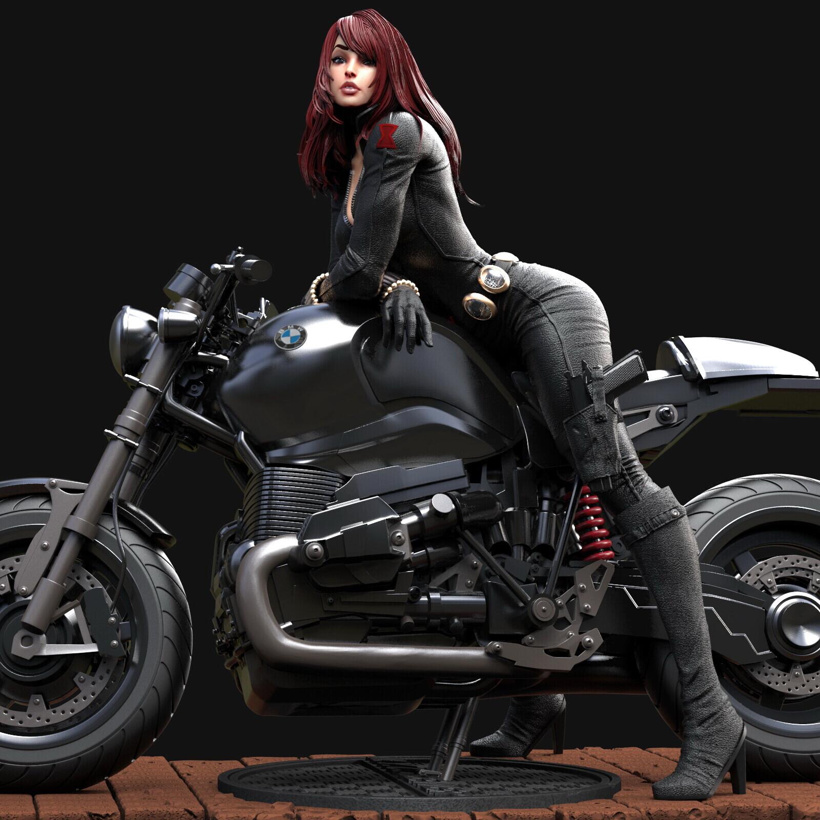 Black Widow BMW motorcycle