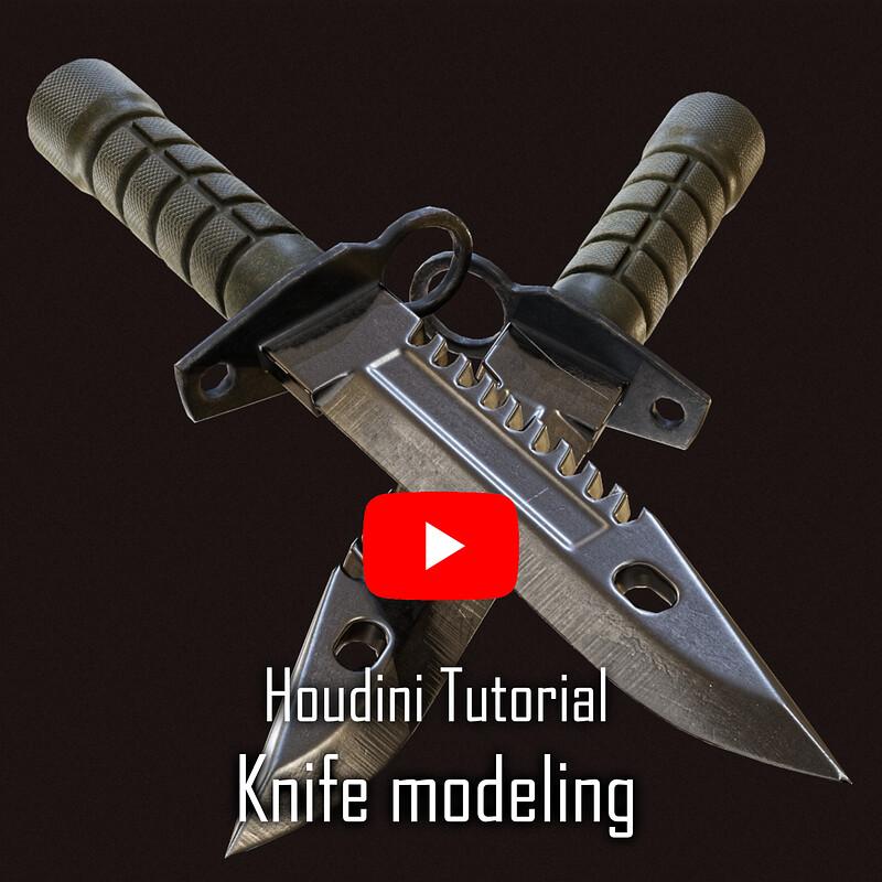 Houdini knife Modeling