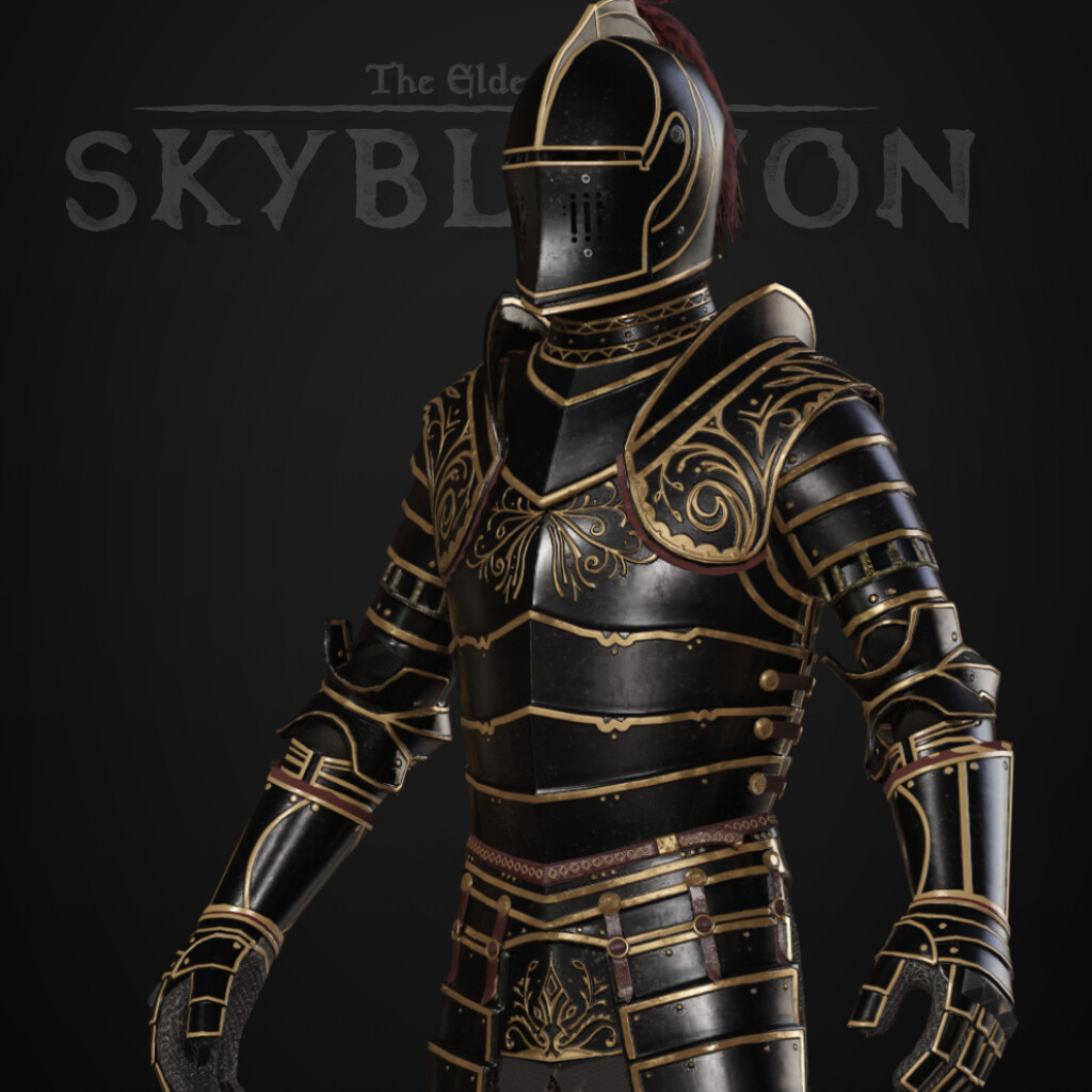 Ebony Armor Set (final) - TES:Skyblivion